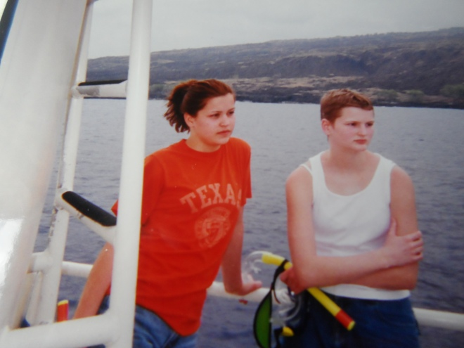 Sarah & me back in '98 on vacation in Kona, Hawaii - Notice my short hair growing back after my first rounds of chemotherapy six months earlier