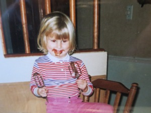 As a young girl, I clearly didn't hide this craving!
