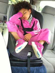 My GENUINELY WORN OUT Napping Niece (just a couple hours ago)