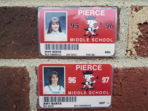 My middle school ID cards the 2 years prior to my leukemia diagnosis