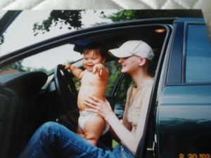 My 1st car at age 18 back when I was a driver (with my good friend Leah)