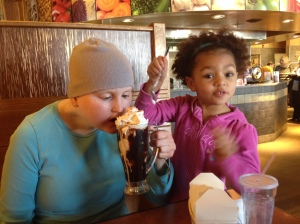 . . . & anything like this complimentary birthday sundae with my fellow eager ester niece!
