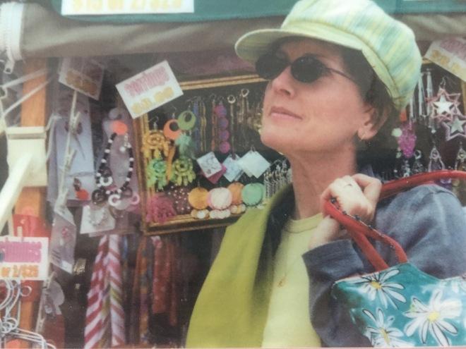 Mom at Boston's Quincy Market 2004